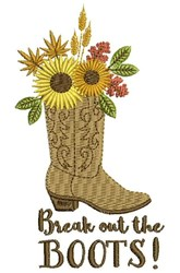 Break Out Boots embroidery design