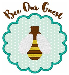 Bee Our Guest Applique embroidery design