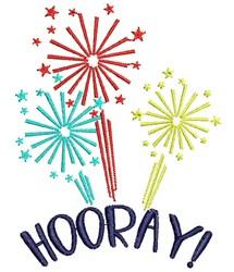 Hooray Fireworks embroidery design