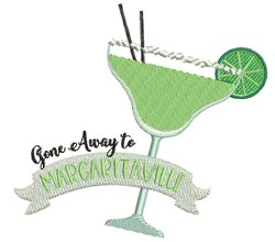 Gone To Margaritaville embroidery design