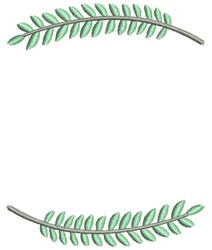 Branch Frame embroidery design