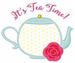 Its Tea Time! Applique embroidery design