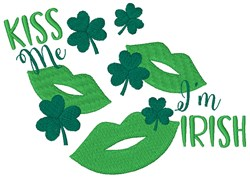 Kiss Me Im Irish embroidery design