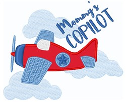 Mommys Copilot embroidery design