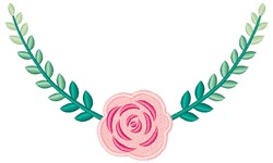 Ombre Rose embroidery design
