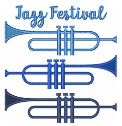 Jazz Festival embroidery design