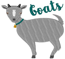 Goats embroidery design