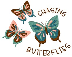 Chasing Butterflies embroidery design