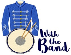 With The Band embroidery design