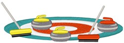 Curling Equipment embroidery design