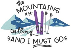 Mountains Are Calling embroidery design