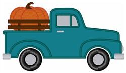Fall Farm Truck embroidery design