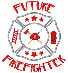 Future Firefighter embroidery design