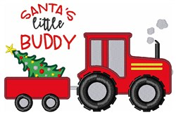 Santas Lil Buddy embroidery design