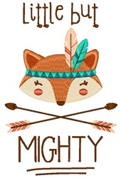 Little But Mighty embroidery design
