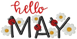 Hello May embroidery design