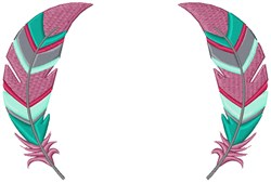 Feather Frame embroidery design