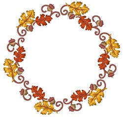 Autumn Wreath embroidery design