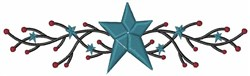 Primitive Country Star embroidery design
