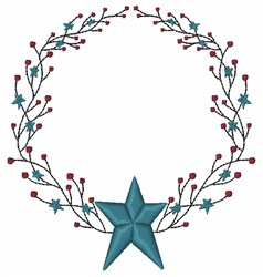 Star Wreath embroidery design