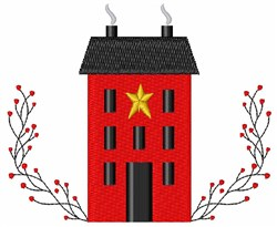 Primitive Country House embroidery design