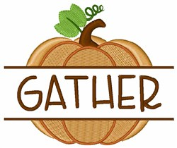 Gather Pumpkin embroidery design