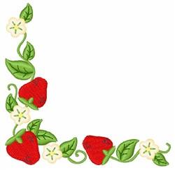 Strawberry Corner embroidery design