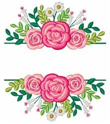 Flower Split Frame embroidery design