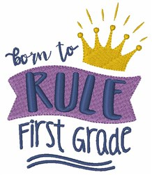 Rule First Grade embroidery design