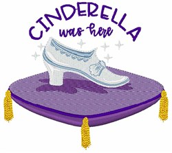 Cinderella Was Here embroidery design
