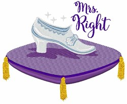 Mrs Right embroidery design