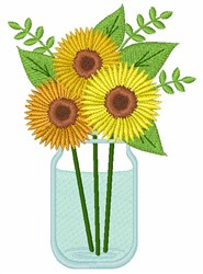 Sunflowers Bouquet embroidery design
