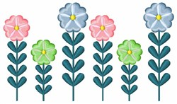 Country Flowers embroidery design