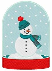 Frosty Snow Globe embroidery design