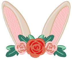 Easter Bunny Ears embroidery design