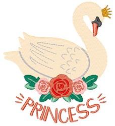 Swan Princess embroidery design