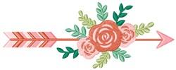 Floral Arrow embroidery design