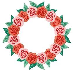 Flower Wreath embroidery design