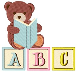 ABC Bear embroidery design