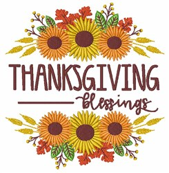Thanksgiving Blessings embroidery design