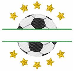 Soccer Split Frame embroidery design
