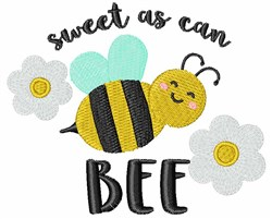 Sweet As Can Bee embroidery design