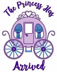 The Princess Has Arrived embroidery design
