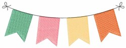 Colorful Banner embroidery design