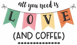 Love And Coffee embroidery design