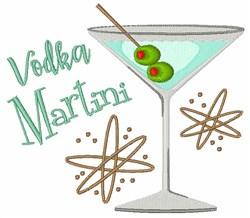 Vodka Martini embroidery design