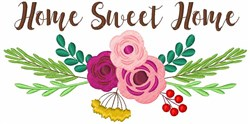 Home Sweet Home Floral embroidery design