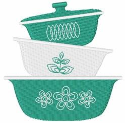 Vintage Bake Ware embroidery design
