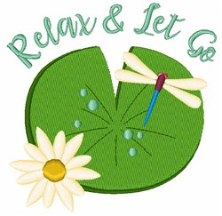 Relax & Let Go embroidery design