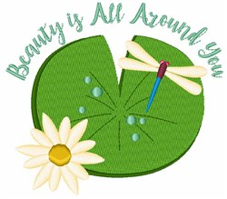 Beauty Is All Around You embroidery design